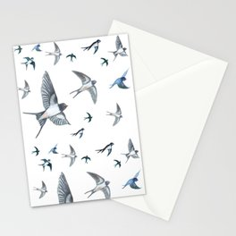 Swallows in Flight Stationery Cards