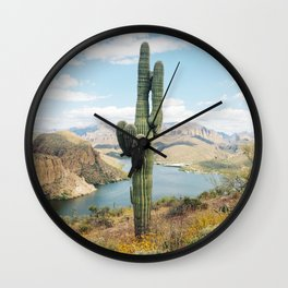 Arizona Saguaro Wall Clock