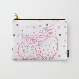 Owls - Pink Carry-All Pouch