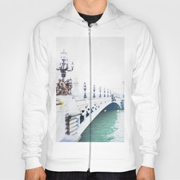 Pont Alexandre III Paris Bridge Watercolor Hoody