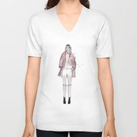 sarah paulson V-neck T-shirts featuring Sarah by Lebats