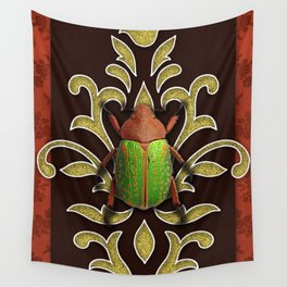 LIME BEETLE Wall Tapestry