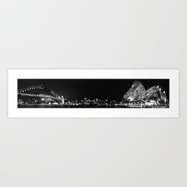 Sydney Illuminated Nightscape Art Print