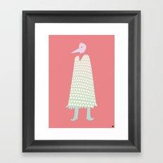 A Stranger Comes A-Callin' Framed Art Print