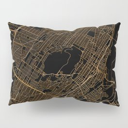 Black and gold Montreal map Pillow Sham