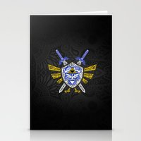 the legend of zelda Stationery Cards featuring Heroes Legend - Zelda by Art & Be