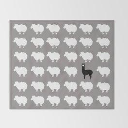 Don't be a sheep, Be a Llama Throw Blanket