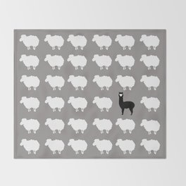 Don't be a sheep, Be a Llama Throw Blanket