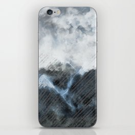 Stormy Mountains iPhone Skin