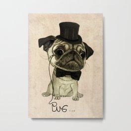 Pug (gentle pug). Metal Print
