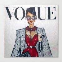 vogue Canvas Prints featuring vogue  by LUSHELLE
