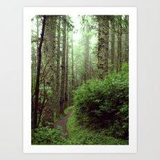 Green Scene. Art Print