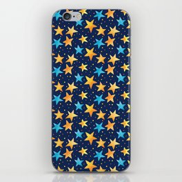 Stars All Over - Dark Version #Watercolor #Pattern iPhone Skin