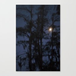 Moon over the Samp Canvas Print