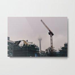 Fog over Berlin Metal Print
