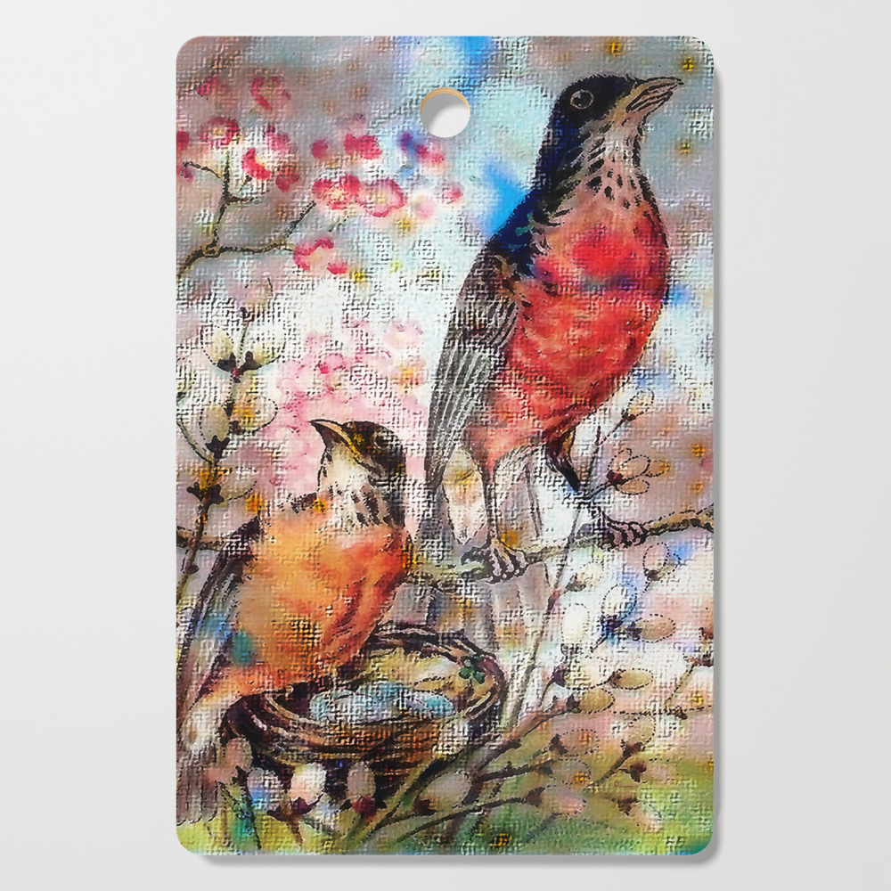 A Robin Redbreast Morning Cutting Board by tammera (DCB9496762) photo