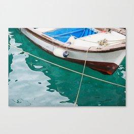 little fishing boat Canvas Print