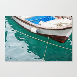 little fishing boat Canvas Print