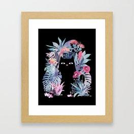 Popoki (Pastel Black Velvet) Framed Art Print