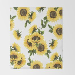 Lovely Sunflower Throw Blanket
