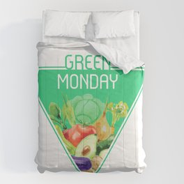 The optimal food triangle - Green Monday Comforters