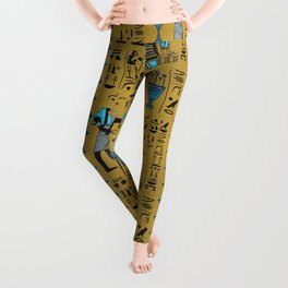 Egyptian  Ornament Symbols Pattern Leggings