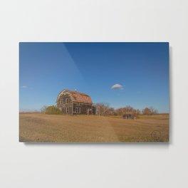 Barn House, Wells County, North Dakota 1 Metal Print