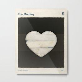 Jane C. Loudon's The Mummy - Minimalist literary design, literary gift, bookish gift, illustration w Metal Print