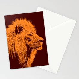 Lion, King of Nature Stationery Cards