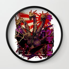 Three-Headed King Pop Wall Clock