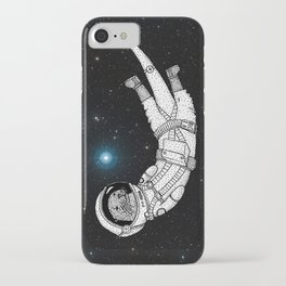 André Floating Around in Otter Space iPhone Case