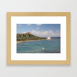 Diamond Head, Honolulu Hawaii Framed Art Print