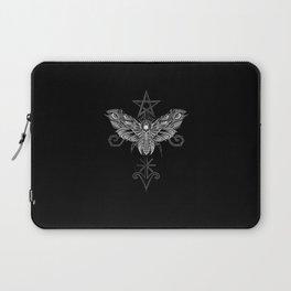 Death Head Moth Tattoo Style Laptop Sleeve