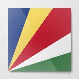 Seychelles flag emblem Metal Print