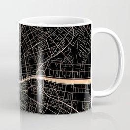Gold and black Dublin map Coffee Mug