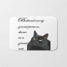 Behind Every Great Person There Is A Great Cat Bath Mat