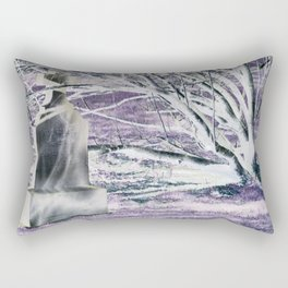 bending in the wind Rectangular Pillow
