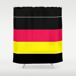 Striped , black , yellow , red Shower Curtain