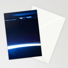 1473. Comet Lovejoy is visible near Earth's horizon Stationery Cards