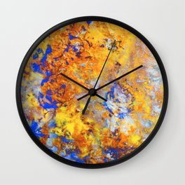 Firefall - Original Abstract Art by Vinn Wong Wall Clock