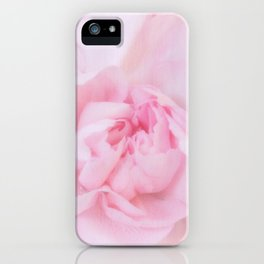 Soft Pink Carnation iPhone Case