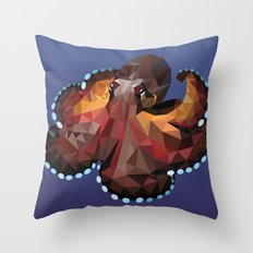 Geometric Octopus Throw Pillow