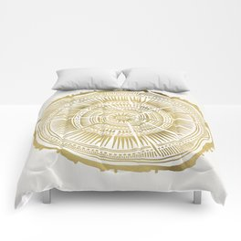 Paper Birch – Gold Tree Rings Comforters