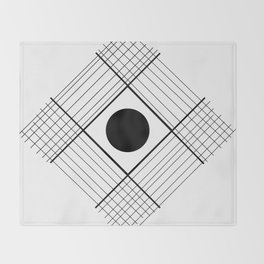 Interlaced Lines Throw Blanket