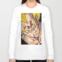 vegeta Long Sleeve T-shirts featuring Vegeta by DeMoose_Art