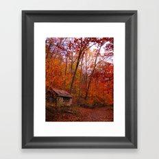 Autumn Shed Framed Art Print