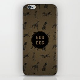 God spelled backwards is dog iPhone Skin