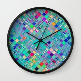 Re-Created  Mosaic No. FOURTEEN by Robert S. Lee Wall Clock