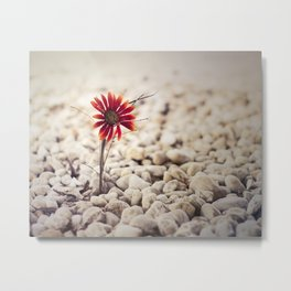 Growing Through Metal Print