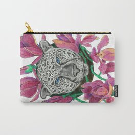 Snow panther hidden in magnolias Carry-All Pouch